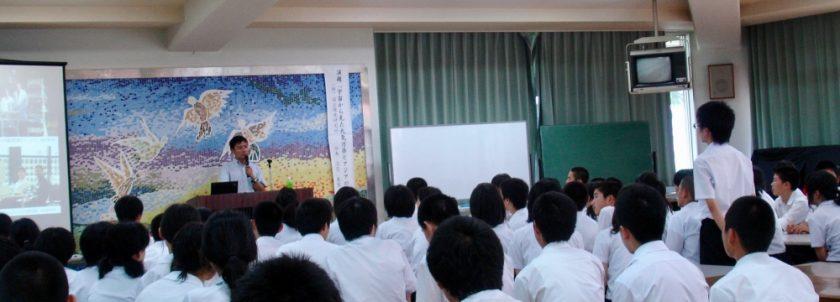 2010年福井県上志比中学校における講演